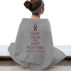 Keep Calm Pink Blanket
