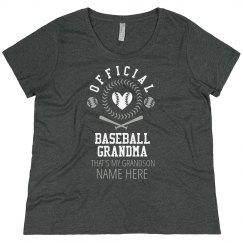 Plus Sized Official Baseball Grandma