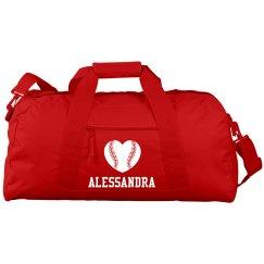 Alessandra's Softball Bag