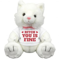 You Is Fine Valentine Slang Cat
