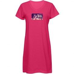 Summer Palm T Shirt Dress
