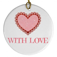 With Love Ornament