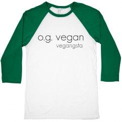 og vegan 3/4 crop raglan