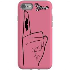 Finger-Stache iPhone