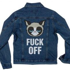 Grumpy Cat Fu ck Off Jean Jacket