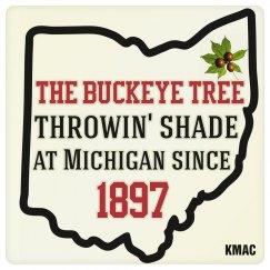 Ohio Buckeye Tree Coaster