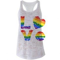 Gay Pride LOVE Distressed