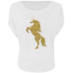 Gold Fire Unicorn Shirt