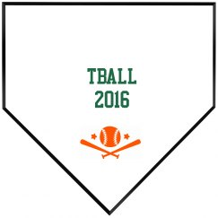 Tball base plaque