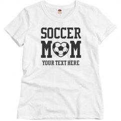 Custom Bling Soccer Mom
