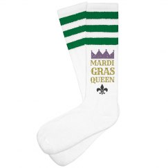 Queen Of Mardi Gras Socks