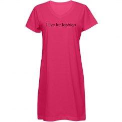 I live for fashion dress