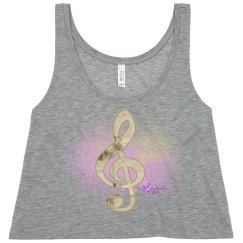 Gold Floral Treble Clef &Purple