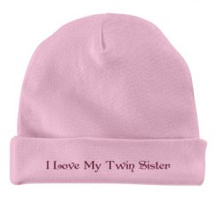 I Love My Twin Sister Hat
