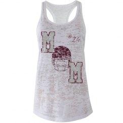 Football Mom Tank, Maroon