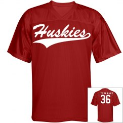 Huskies name and number sports jersey