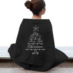 merry christmas fleece