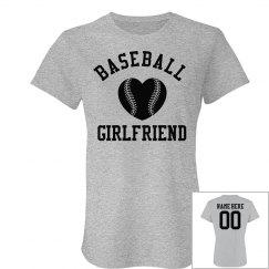 Trendy Custom Baseball Girlfriend Burnout Shirts