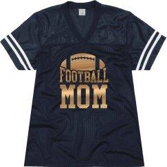 Metallic Red Football Mom Jersey
