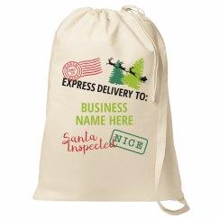 Small Business Custom Santa Bag