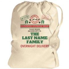 Santa Bag Custom Last Name Xmas