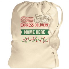 Express Delivery Custom Santa Bag