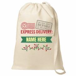 Express Delivery Custom Santa Bag