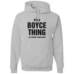 It's a Boyce thing