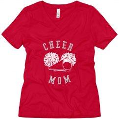 Rhinestone Cheer Mom Tee