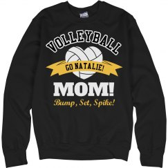 Volleyball Mom Sweatshirt With Custom Name and Colors
