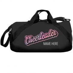 Glitter Cheerleader Custom Duffle Bag