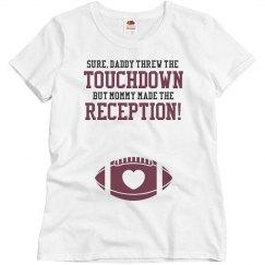Funny Football Family Football Mom Maternity Shirts