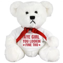 Aye Girl Gangsta Valentine Bear