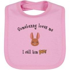 Somebunny - Bib dad pink