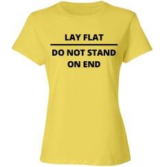 WARNING! Lay Flat