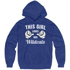 This girl loves her wildcats