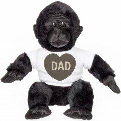 Monkey Dad Cuddly Bear
