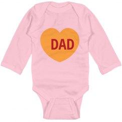 Love Dad Babysuit