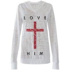 LOVE HIM - Red Cross Shirt