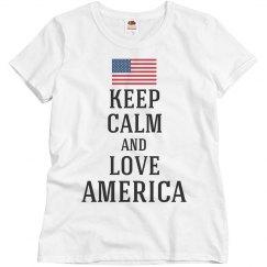 Keep calm love America