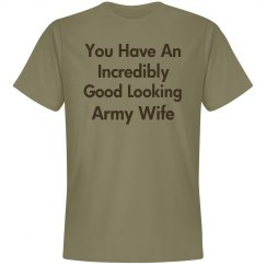 Incredibly good looking army wife
