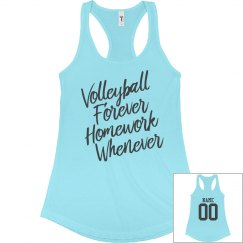 Custom Text Volleyball Forever