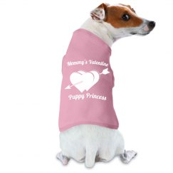 White Double Hearts Arrow MommysValentine PuppyPrincess