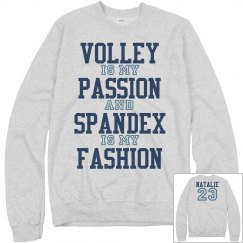 Volleyball is My Passion Girl Sweater With Name Number