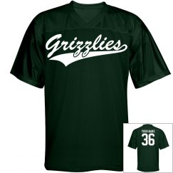 Grizzlies custom name and number sports jersey