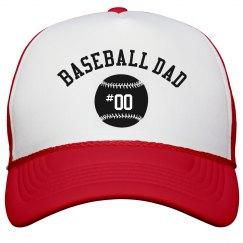 Baseball Dad Custom Number