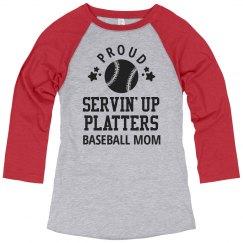 Baseball Mom Serving Home Plates