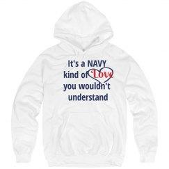 Navy Love Hoodie