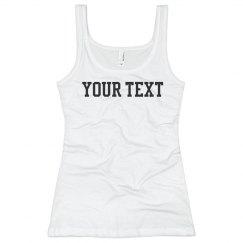 Custom Text Tank Top