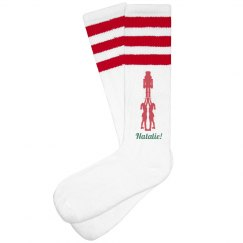 Christmas Cheerleaders Socks With Custom Name